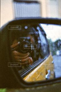 車のサイドミラー ビューの写真・画像素材[1659544]