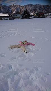 子ども,雪,白,冬景色,スキー,天使,かき氷,スキー場,冷たい,ゆき,パウダースノー,スノーエンジェル,越後中里,はじめてのスキー,スキーレッスン