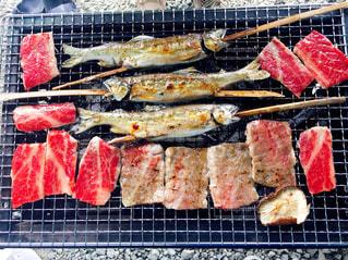 BBQ,お肉,ごちそう,お魚,ごちゃ混ぜ