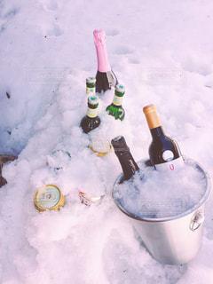 雪,ワイン,beer,ひえひえ