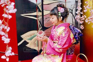 女性,桜,着物,人,成人式