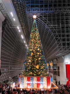 京都駅に現れたクリスマスツリー🎄の写真・画像素材[1665725]