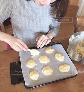 食べ物,屋内,テーブル,人,お菓子,クッキー,バレンタイン,手作り,バレンタインデー
