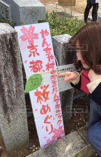 桜,文字,手書き,紙,日本語