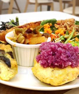 食事,料理,オーガニック,ランチプレート