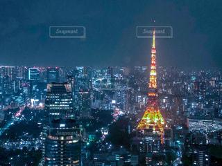 東京タワーの夜景の写真・画像素材[1690313]