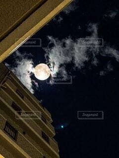 自然,風景,空,雲,月,満月,天文学