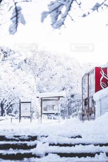 雪をスノーボードに乗る男覆われた斜面の写真・画像素材[1680579]