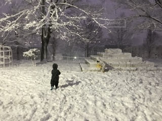 冬,雪,住宅街