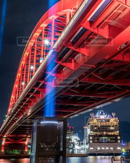 神戸大橋の夜景の写真・画像素材[1683708]