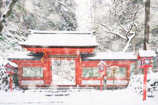 雪化粧の貴船神社の写真・画像素材[1683818]