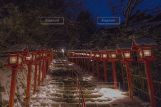 雪景色・貴船神社の写真・画像素材[1687783]