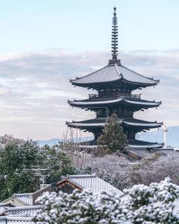 雪化粧の五重塔の写真・画像素材[1688011]