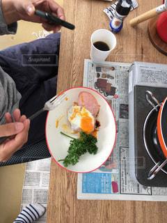 朝食,目玉焼き,朝飯