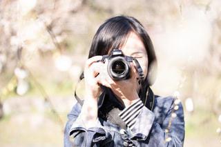 カメラ女子の写真・画像素材[1828666]