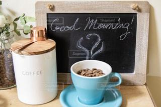 コーヒー,黒板,朝,チョーク,コーヒーカップ,手書き,おはよう,ブラックボード,グッドモーニング