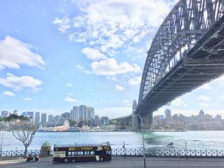風景,橋,晴れ,観光,二階建てバス,海外旅行,シドニー,Sydney