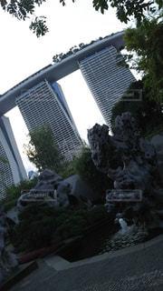 プール,水,岩,シンガポール,噴水,オブジェ,ホテル,マリーナベイサンズ,高層,家族旅行