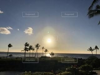 風景,海,夕日,海辺,景色,観光,旅行,ハワイ,夕陽,ハワイ島,海外旅行