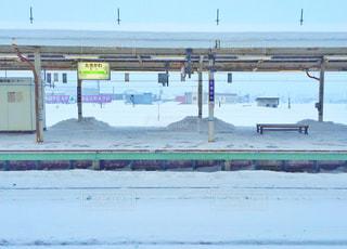 冬の北海道の駅の写真・画像素材[1673615]