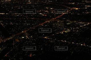 空からの夜景の写真・画像素材[1681614]