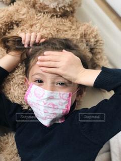 マスクで風邪予防の写真・画像素材[1682661]