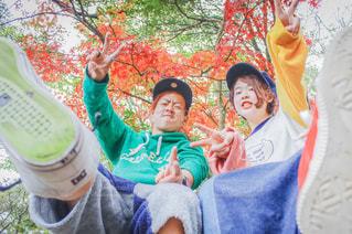 女性,男性,10代,20代,ファッション,公園,秋,紅葉,帽子,もみじ,鮮やか,樹木,思い出,兄妹,山口県,たのしい,江汐公園,秋コーデ,お写ん歩