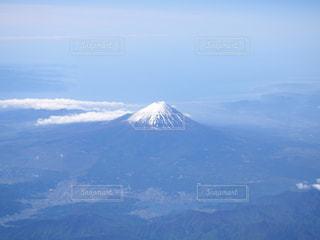 飛行機から見えた富士山の写真・画像素材[1684845]