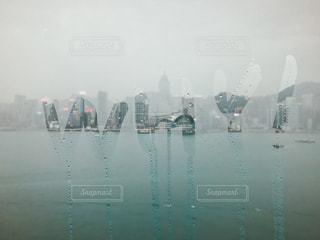 海,雨,窓,水面,しずく,くもり