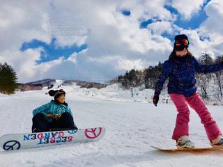 空,スポーツ,雪,晴れ,青,田舎,女の子,スノボ,ゲレンデ,快晴,スノー