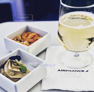 食事,海外,飛行機,旅行,フランス,シャンパン,機内食,エアフランス