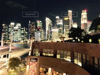 風景,夜景,屋外,海外,景色,旅行,シンガポール,街灯