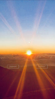 屋外,海外,太陽,朝日,雲,景色,旅行,ハワイ