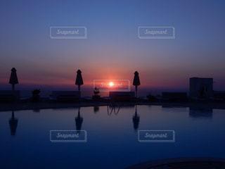 風景,空,屋外,海外,太陽,景色,反射,旅行,ギリシャ,サントリーニ