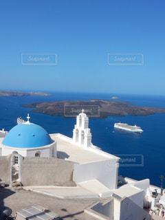 風景,空,屋外,海外,太陽,朝日,夕暮れ,景色,反射,旅行,ギリシャ,日の出,サントリーニ