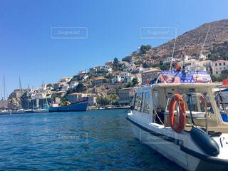 自然,風景,海,空,屋外,海外,太陽,雲,船,景色,旅行,ギリシャ