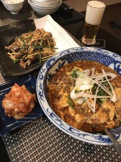 中華料理🥟麻婆豆腐。青椒肉絲の写真・画像素材[1764888]