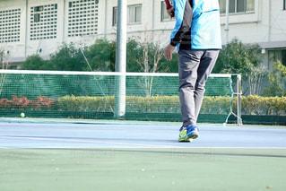 テニスをしてる人の写真・画像素材[1802855]