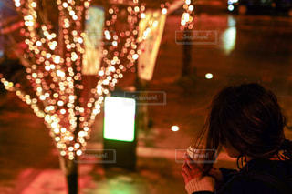 夜,夜景,コーヒー,イルミネーション,都会,カップ,グランフロント大阪,シャンパンゴールド