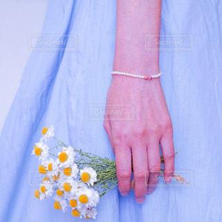 青いドレスを着た人の写真・画像素材[3131708]