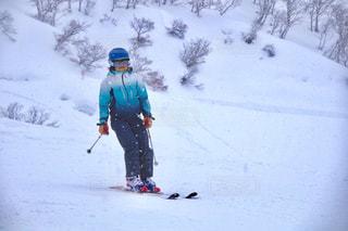 雪上スキーの写真・画像素材[1787494]