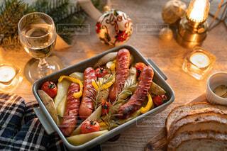 冬,クリスマス,ワイン,夕食,ジョンソンヴィル