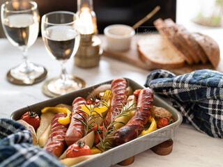 冬,ワイン,夕食,ジョンソンヴィル