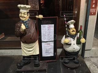 お酒,看板,帽子,メニュー,人形,ボトル,レストラン,尾道,エプロン,カンバン,コックさん