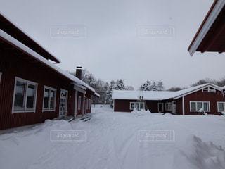 「日本のスウェーデン」こと石狩郡当別町の積雪の頃の写真・画像素材[1732991]