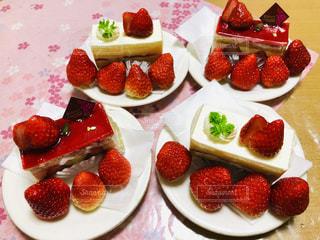 いちご,苺,フルーツ,テーブルクロス,ショートケーキ,イチゴ