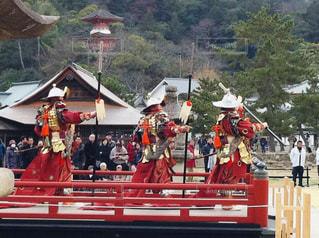 宮島、厳島神社の冬の舞の写真・画像素材[1792189]
