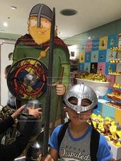 子ども,ヘルメット,大英博物館,売店,バイキング,土産物,盾