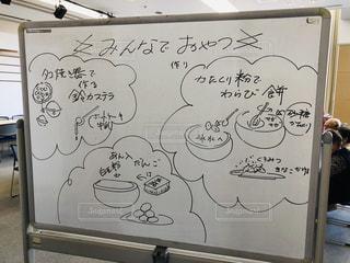 お菓子,お菓子作り,手書き,ホワイトボード,高齢者のサロン