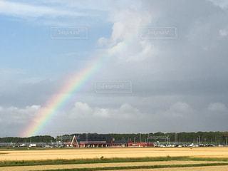 道の駅とうべつに虹がかかったの写真・画像素材[1866307]